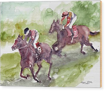 Horse Racing Wood Print by Faruk Koksal