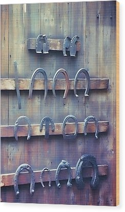 Horse Shoes Wood Print by JAMART Photography