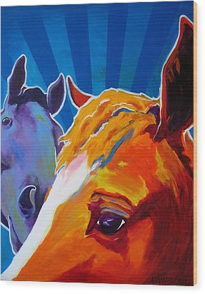Horse - We Come In Peace Wood Print by Alicia VanNoy Call