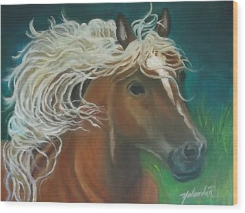 Wood Print featuring the painting Horse by Yolanda Rodriguez