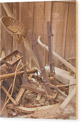 Wood Print featuring the photograph Horsedrawn Disc by Nick Kirby