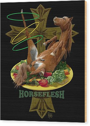 Horseflesh Wood Print by Scott Ross