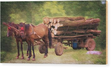 Horsepower Wood Print by Jeff Kolker