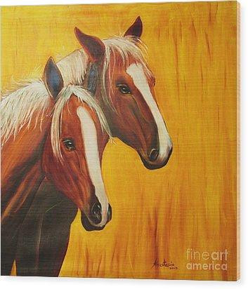 Horses Wood Print by Anastasis  Anastasi