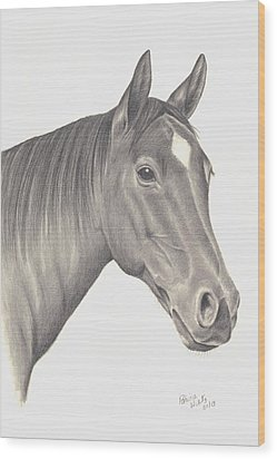 Horses Beauty Wood Print by Patricia Hiltz