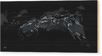 Wood Print featuring the photograph Horses - Cavalli by Ze  Di