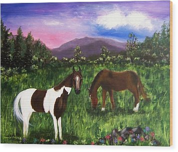 Horses Wood Print by Jamie Frier