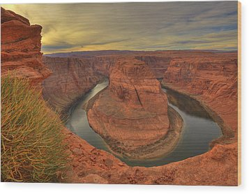 Horseshoe Bend Wood Print by Alan Vance Ley