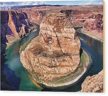 Horseshoe Bend In Arizona Wood Print