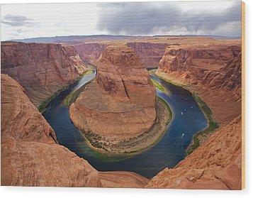 Horseshoe Bend View 1 Wood Print