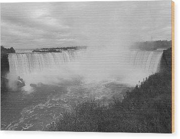 Horseshoe Falls - Autumn - B N W Wood Print