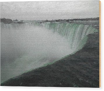 Horseshoe Falls In Winter Wood Print