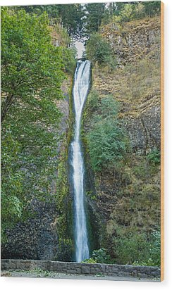 Horsetail Falls Wood Print by John M Bailey