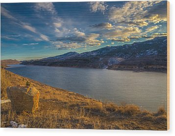 Horsetooth Reservoir Late Afternoon Wood Print by Harry Strharsky