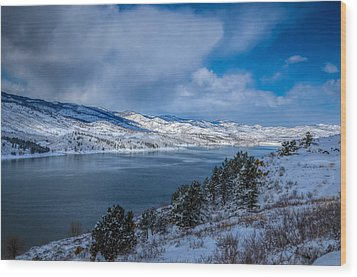 Horsetooth Reservoir Looking North Wood Print by Harry Strharsky