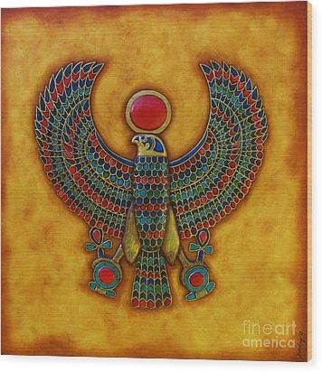 Horus Wood Print by Joseph Sonday