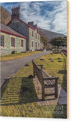 Hospital Bench  Wood Print by Adrian Evans