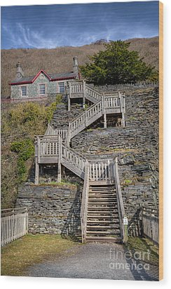 Hospital Steps Wood Print by Adrian Evans