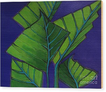 Hosta Blue Tip Two Wood Print
