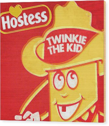 Hostess Twinkie The Kid Wood Print by Tony Rubino