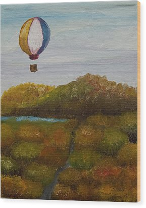 Hot Air Wood Print by Anthony Cavins