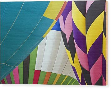 Hot Air Balloon Wood Print by Marcia Colelli