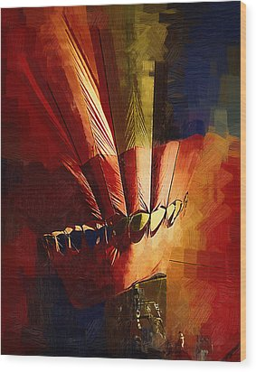 Hot Air Balloon Ready To Go Wood Print by Kirt Tisdale