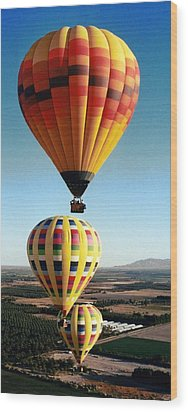 Balloon Stacking Wood Print by Richard Engelbrecht