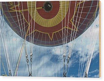 Hot Air Baloon Wood Print