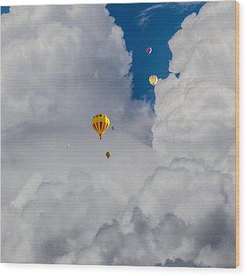 Wood Print featuring the photograph Hot Air Rising by Dennis Bucklin