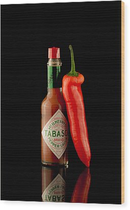 Hot Chilli Wood Print by Brendan Quinn