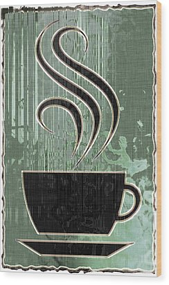 Hot Coffee Wood Print by David G Paul