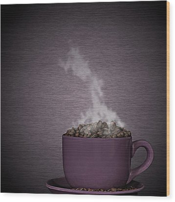 Wood Print featuring the photograph Hot Coffee by Gert Lavsen
