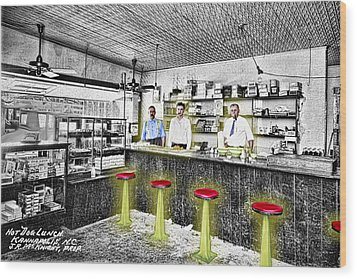 Hot Dog Lunch Wood Print by Barry Moore