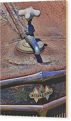 Hot Faucet Hood Ornament Wood Print by Garry Gay