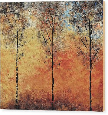 Hot Hillside Wood Print