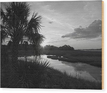 Hot June Sunrise I        Bw Wood Print