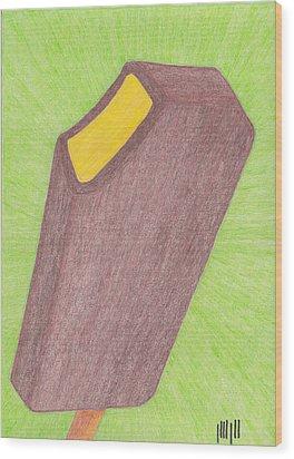 Hot Mustard Fudgsicle Wood Print