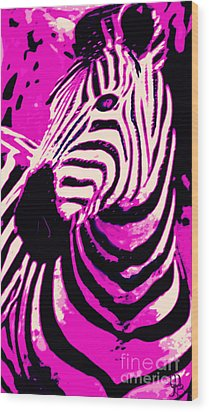 Hot Pink Zebra  Wood Print