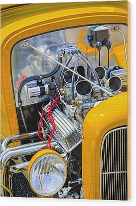 Hot Rod Wood Print by Bill Wakeley