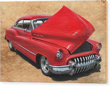 Hot Rod Buick Wood Print by Victor Montgomery