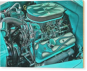 Hot Rod Engine Wood Print by Victor Montgomery