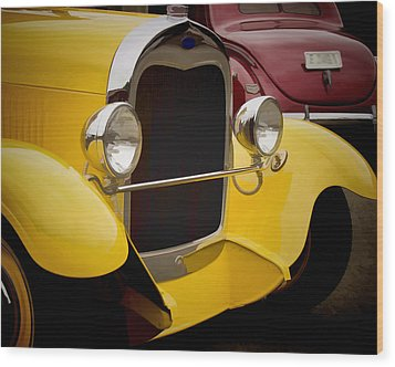 Hot Rod Fords Wood Print by Ron Roberts