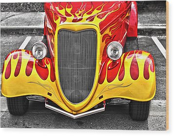 Hot Rod Wood Print