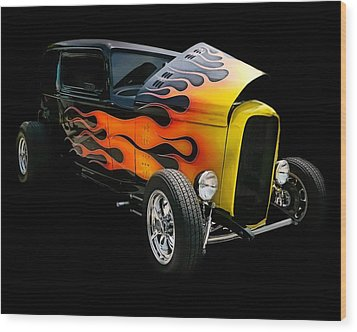 Wood Print featuring the photograph Hot Rod by Victor Montgomery