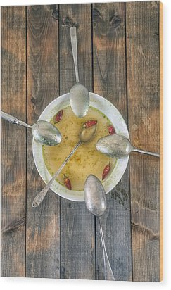 Hot Soup Wood Print by Joana Kruse
