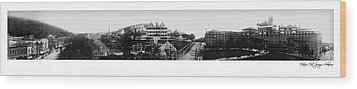 Hot Springs Arkansas Panoramic Wood Print by Retro Images Archive