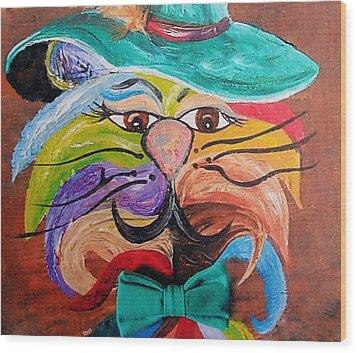 Hot Stuff - One Cool Cat   Wood Print by Eloise Schneider