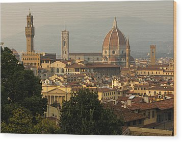 Hot Summer Afternoon In Florence Italy Wood Print
