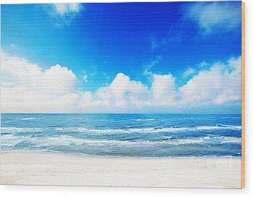 Hot Summer Beach Wood Print by Michal Bednarek